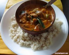 Thai red curry with brown rice