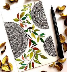 Hy everyone. in the upcoming time of this pandemic. stay home stay safe,, we all know it's not gonna be easy but we've to do as much as… Mandala Artwork, Mandala Painting, Mandala Drawing, Zentangle Patterns, Zentangles, Watercolor Cards, Watercolour, Mandala Art Therapy, Mandala Doodle