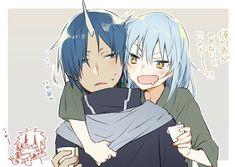 It's not gay if it's genderless & Manga Ken Anime, Anime Girl Neko, Anime Couples Manga, Anime Meme, Kawaii Anime, Anime Manga, Anime Art, Blue Hair Anime Boy, Otaku