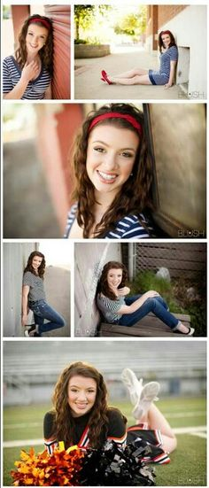 Senior Picture Ideas for Girls. Senior Pictures for Cheerleaders