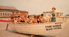 Vintage Stone Harbor NJ post card