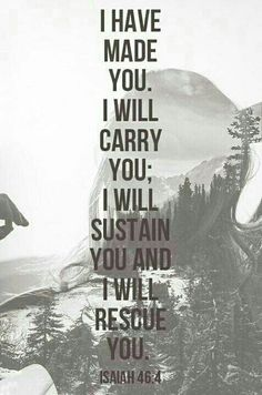 """""""I will sustain you..."""""""