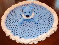 Crochet Teddy Bear Security Blanket free pattern