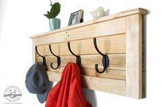 Coat Hooks - Reclaimed Wood Coat Rack - Entryway Coat Hooks - Pallet Furniture - Entryway Organizer - Key Hook - Rustic Coat Rack - Decor by byDadandDaughter on Etsy https://www.etsy.com/listing/223463853/coat-hooks-reclaimed-wood-coat-rack