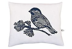 Chickadee Block Print Squillow Pillow  DIY Inspiration or Buy?