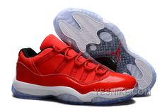"promo code 5660d 2ed6f Shop Air Jordans 11 Retro Low ""Red"" PE Carmelo Anthony Red White Authentic  black, grey, blue and ..."