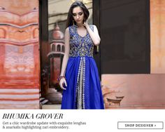 by Bhumika Grover – Indian Salwar Kameez – Indian Suits – Designer Wear of India – Lengha Designs – Bestselling Dresses - #Quirky #Fun - Traditional Wear – Indian Ethnic Wear – Wedding Wear – #Lehenga #Multicolor #Vibrant #Style – Indian Fashion Clothing - #Stunning #Gorgeous – Buy Online Indian Ethnic Dresses – Shop Indian Saris, Sarees, Lengha, Salwar Suits, Jewelry, Accessories online at #ExclusivelyIn