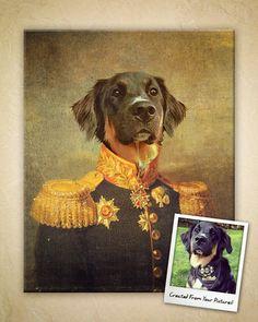 Custom Vintage Pet Portrait  8x10 Canvas Print by ICraftysaurusI, $50.00
