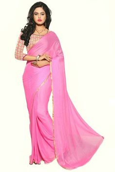 NAZNEEN CHIFFON WITH NET EMBRODED SAREE