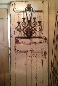 salvaged door sconce | Gypsy Faire