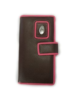 Mossy Oak Leather Pink Brown Bi-fold Wallet Woman's Mossy Oak Wallet (Brown). Officially licensed Mossy Oak Camo Wallet. Easy open tab/snap closure. full length billl openings. Clear-view driver's license window. full length zippered security pocket.