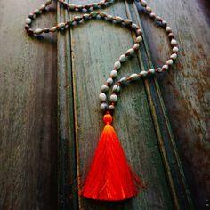108 seeds of joy and peace #malas #necklace #neon #handmade #ethicalfashion #ecofashion #design #fashion #tassels #lulamena by lula_mena found via http://ift.tt/1C7GJT5
