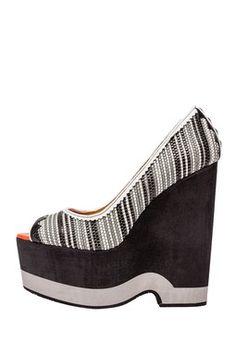 Felina Peep Toe Platform Wedge