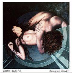 Dipinto ad olio di Renzo Verdone