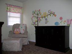 Owl Nursery - wall decal