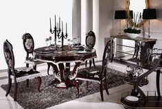 Tiziano Series Dining Room Furniture, Dining Table (3T001, 3C001)