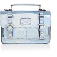 Accessorize Holographic Mini Satchel Bag ($39) ❤ liked on Polyvore featuring bags, handbags, mini satchel, handle satchel, mini satchel handbags, hologram handbag and satchel handbags