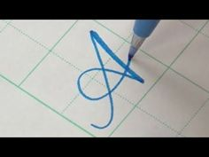 How to write Copperplate Calligraphy Alphabet with a Pentel Touch Brush Pen Calligraphy Fonts Alphabet, Brush Pen Calligraphy, Calligraphy Tutorial, Handwriting Alphabet, Copperplate Calligraphy, How To Write Calligraphy, Lettering Tutorial, Alphabet Art, Handwriting Styles