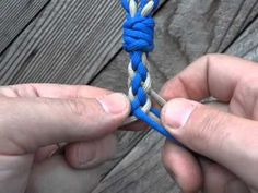 This is how I make round lead ropes out of baler twine with this Gaucho Braid (8 Strands). It's a great way to recycle your twine and they're strong as hell.
