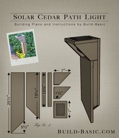 Build a Solar Cedar Path Light - Building Plans by Build Basic www. Build a Solar Ce Driveway Lighting, Pathway Lighting, Patio Lighting, Lighting Ideas, Outdoor Lamps, House Lighting, Solar Pathway Lights, Path Lights, Solar House Numbers