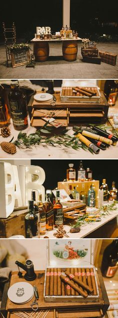 Capella-Hochzeit mit Kinderecke, Whisky- und Zigarrenbar und Dessertstraße Capella wedding with children's corner, whiskey and cigar bar and dessert street, Birthday Party Tables, 40th Birthday Parties, Man Birthday, 30th Party, Themed Parties, Classy Birthday Party, 50th Birthday Party Ideas For Men, Tea Parties, Birthday Decorations