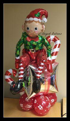 Elf on a shelf! (balloon style) www.elegant-balloons.com