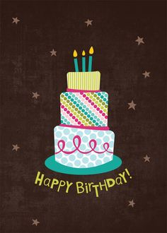 Three Layer Birthday - Birthday Cards from CardsDirect