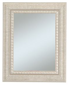 Alpine Art and Mirror Haverhill Collection Wall Mirror in 2-1/2-Inch Wide Decorative Silver Enhanced Frame * More info could be found at the image url. (This is an affiliate link and I receive a commission for the sales)