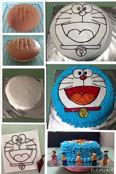 40 Ideas For Cars Cake Tutorial Easy Birthday Party Images, Make Birthday Cake, Cars Birthday Parties, Boy Birthday, Cake Decorating Frosting, Easy Cake Decorating, Doraemon Cake, Car Cakes For Boys, Car Cake Tutorial