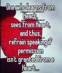 It isn't e mouth but from e heart.