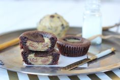 Chocolate chip cookie dough Nutella brownie cups (12 Tbs of cookie dough)