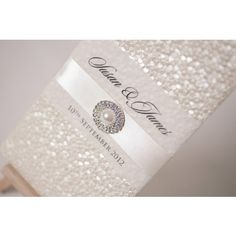 Pearlescent Ivory Wallet with Ribbon & Pearl www.happyeverafter.ie