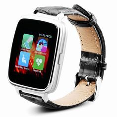 Original OUKITEl A28 Smart Watch 1.54inch MT2502A bluetooth4.0 Genuine leather band Heart Tracker monitor for IOS and android