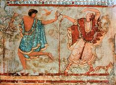 AKG Anonymous - Dancers / Etruscan Wall Paint./ c.470 BC