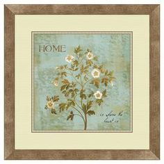 """Framed and matted giclee print under glass.  Product: Framed wall artConstruction Material: Paper, glass and polystyreneColor: Natural frameFeatures: Beautiful giclee printDimensions: 18.5"""" H x 18.5"""" W"""