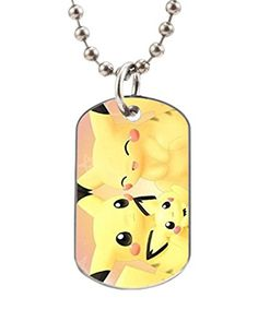 Pokemon Pikachu image Design Oval Dog Tag BIG Size Silver Color ID Tag necklace Pet Tags  Yigo lago Custom ** Check out the image by visiting the link.