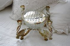 Vintage Silver Plated Candle Holder and Flower Frog