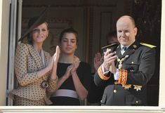 Charlene Wittstock Photos - (L-R) Charlene Wittstock, Charlotte Casiraghi and Prince Albert II of Monaco attend the Army Parade as part of Monaco's National Day celebrations on November 19, 2010 in Monaco, Monaco. - Monaco National Day 2010 - Celebration