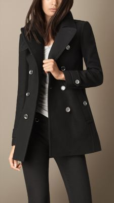 Back Pleat Military Coat from Burberry...x