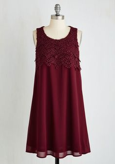 In the Mood for Lovely Dress. Is it any wonder that you cant wait to slip into this silky, vintage-inspired frock? #red #modcloth