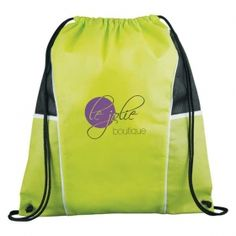 Promotional Products Ideas That Work: Diamond Drawstring Cinch Backpack. Get yours at www.luscangroup.com