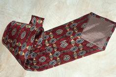 Pierre Balmain Couture Necktie Silk Glossy Jewel by MushkaVintage3