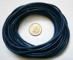 FLOFIA 2mm 20 Yards Black Leather Thong Cord for DIY Crafting and Jewellery Necklace Bracelets Making Projects