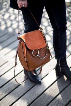 Chloe Faye Backpack, Zara Blazer, Forrest Green Suit, Mango Breton Top | mediamarmalade | fashion blogger | style inspiration | outfit inspiration