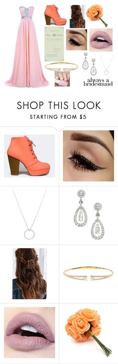 """Night's Bridesmaid #2"" by maya-fischbach on Polyvore featuring Qupid, Roberto Coin, Urban Outfitters and Nadri"