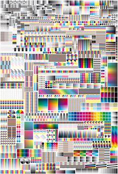 Specimen by Fanette Mellier, 2008: CMYK vs RGB. #poster #illustration #graphicDesign