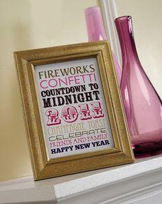 Custom Printables Online Happy New Year Printable Subway Art