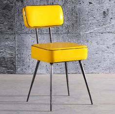 1000 images about color mobilier deco jaune yellow on pinterest - Chaises vintage occasion ...