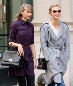 gingham shirtdress New BFF's Taylor Swift and Karlie Klos