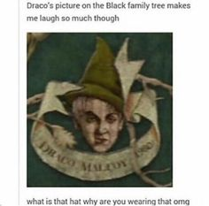 Draco, sweetheart. THAT HAT THOUGH !!!!!!!